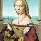 Lady with a Unicorn about 1505 woman portrait canvas art print by Raphael