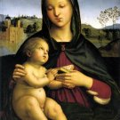 Madonna and Child with Book Christian canvas art print by Raphael