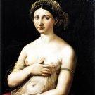 La Fornarina woman canvas art print by Raphael