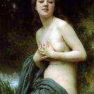 La Brise du Printemps, Spring Breeze woman canvas art print William Adolphe Bouguereau
