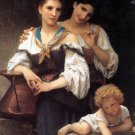 Le secret 1876 The Secret women canvas art print by William Adolphe Bouguereau