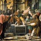 Conversion Proconsul religious Christian canvas art print by Raphael