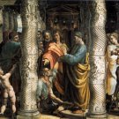 Healing the Lame Man religious Christian canvas art print by Raphael