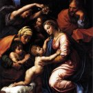 Holy Family of Francis I religious Christian canvas art print Raphael