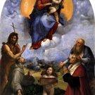 Madonna di Foligno religious Christian canvas art print by Raphael