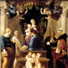 Madonna of Baldacchino religious Christian canvas art print by Raphael