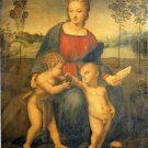 Madonna of Goldfinch religious Christian canvas art print by Raphael