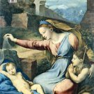 Madonna with a Blue Diadem Christian canvas art print by Raphael