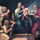 Madonna with a Fish religious Christian canvas art print by Raphael