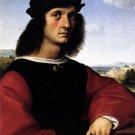 Portrait of Agnolo Doni man canvas art print by Raphael