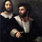 Self Portrait with a Friend 1518 men canvas art print by Raphael