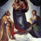 Sistine Madonna religious Christian Jesus canvas art print by Raphael
