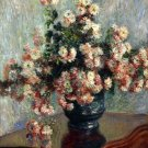 Chrysanthemums still life flowers canvas art print by Claude Monet