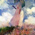 Woman with Parasol Studie 1886 landscape canvas art print by Claude Monet