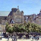 Saint Germain l'Auxerrois Paris 1867 cityscape canvas art print by Claude Monet