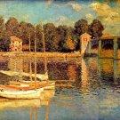 The Bridge of Argenteuil river water landscape canvas art print by Claude Monet