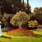 Woman in the Garden landscape canvas art print by Claude Monet