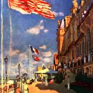 The hotel  of the Roches Noires cityscape canvas art print by Claude Monet