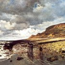 The Headland of the Hève at Low Tide 1865 landscape canvas art print by Claude Monet