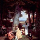 The Playground 1830 canvas art print by Jacques Laurent Agasse
