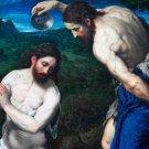 The Baptism of Christ Christian Jesus canvas art print by Bordone