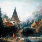 Landscape Near Beauvais 1740s canvas art print by Francois Boucher
