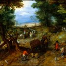 A Woodland Road with Travelers 1607 canvas art print by Jan Brueghel the Elder