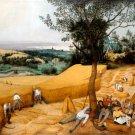 The Harvesters 1565 canvas art print by Jan Brueghel the Elder