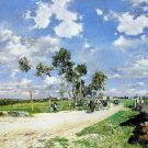 Country Road by Combes la Ville landscape canvas art print by Giovanni Boldini