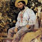 Diego Martelli in Castiglioncello man portrait canvas art print by Giovanni Boldini