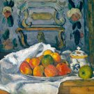 Dish of Apples ca 1877 still life canvas art print by  Paul Cezanne