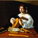 The Lute Player ca 1597 music canvas art print by Caravaggio