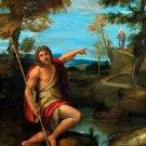 Saint John the Baptist Bearing Witness canvas art print by Carracci