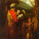 Abraham Dismissing Hagar and Ishmael canvas art print by Fabritius