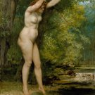 The Young Bather 1866 woman canvas art print by Gustave Courbet