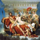 Mars disarmed by Venus and the Three Graces woman man women canvas art print by Jacques Louis David