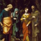 Saints Peter Martha Magdalene Leonard canvas art print by Correggio