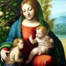 Virgin and Child Saint John Baptist canvas art print by Correggio