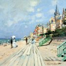 Beach at trouville seascape canvas art print by Claude Monet