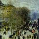Boulevard des Capucines I 1863 cityscape people canvas art print by Claude Monet