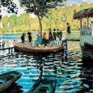 La Grenouillere II water landscape canvas art print by Claude Monet