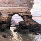 La Porte Amont seascape canvas art print by Claude Monet