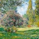 Landscape The Parc Monceau 1876 canvas art print by Claude Monet