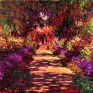 Path in Monets garden in Giverny flower landscape canvas art print by Claude Monet