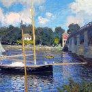 Argenteuil Bridge Pont d'Argenteuil water landscape canvas art print by Claude Monet