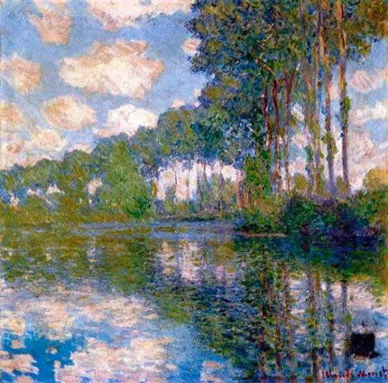 Is Monet Jewelry Real >> Poplars at the Epte water landscape canvas art print by Claude Monet