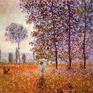 Poplars in the Sunlight landscape canvas art print by Claude Monet