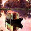 The Studio Boat water landscape canvas art print by Claude Monet