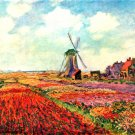 Tulips of Holland flowers landscape canvas art print by Claude Monet