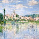 Vétheuil in Summer 1880 water landscape canvas art print by Claude Monet